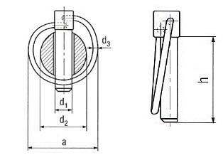 DIN 11023 Linch Pin / O Pin