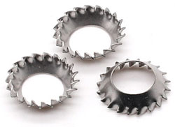 DIN 6798V Countersunk Serrated Lock Washer
